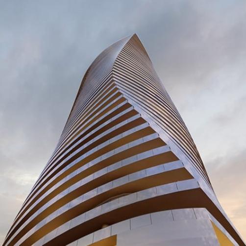 Facade design of Raspina building